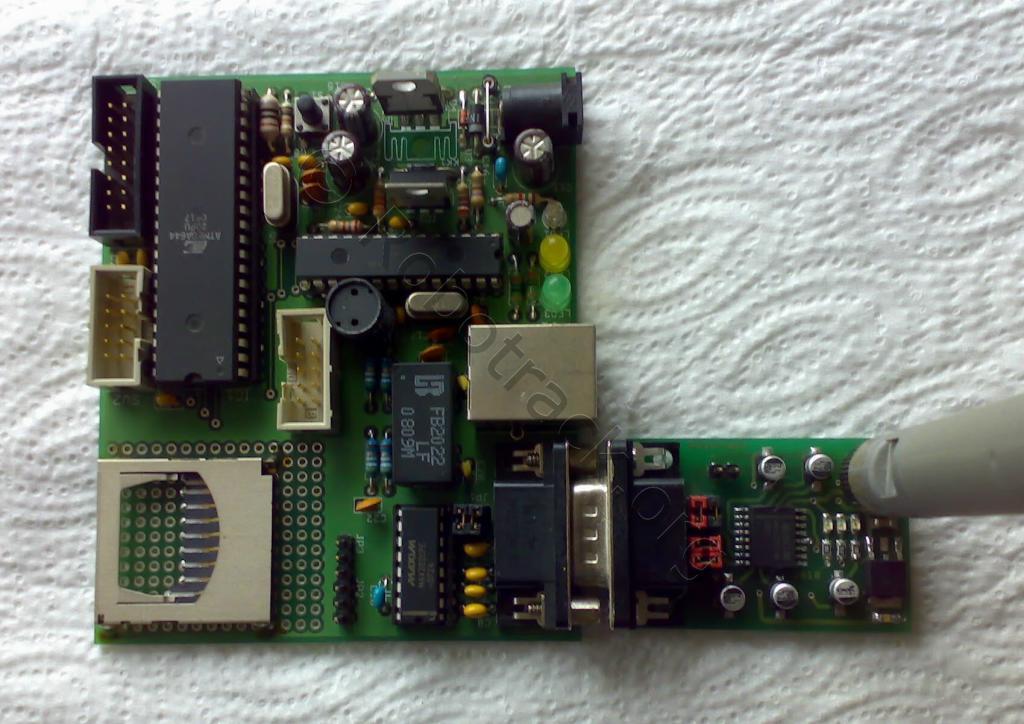 Ethernet ATmega32/644 Experimentierboard am BTM Serial